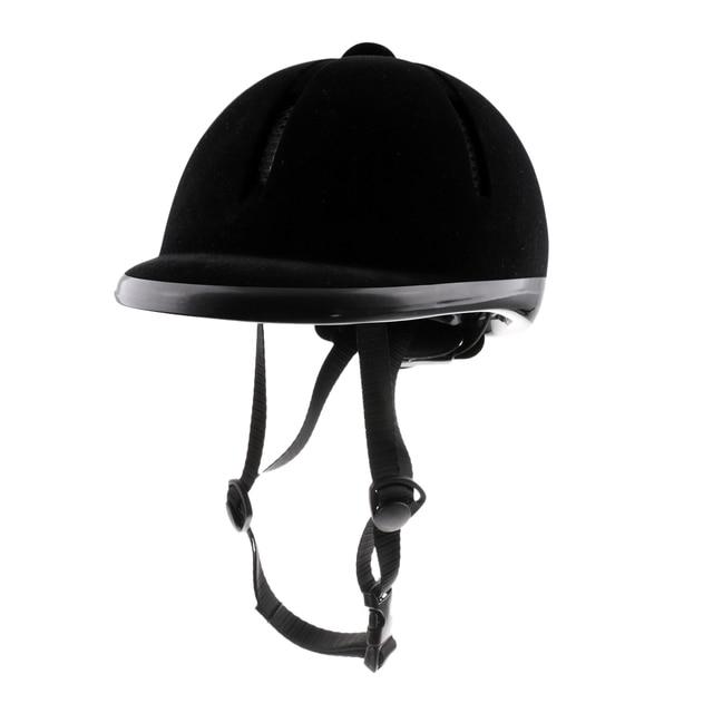 Casque déquitation velours cavalier équestre sécurité tête chapeau protecteurs de corps équipement déquitation pour enfants enfants 48 54cm