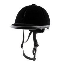 Casque d'équitation velours cavalier équestre sécurité tête chapeau protecteurs de corps équipement d'équitation pour enfants enfants 48-54cm