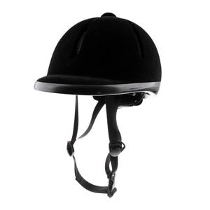 Image 1 - Horse Riding Helmet Velvet Equestrian Rider Safety Head Hat Body Protectors Riding Equipment For Kids Children 48 54cm