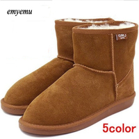 NEW EMYEMU Bronte Mini W20003 Cow Suede Genuine With 100 Wool Inner Winter Snow Boots 5color