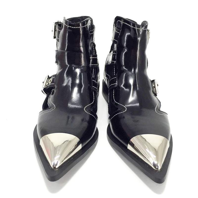 Classic enkel gesp echt leer motorfiets enkellaars voor vrouwen merk schoenen vrouwelijke lente zomer laarzen sandalen schoenen vrouwen-in Enkellaars van Schoenen op  Groep 3