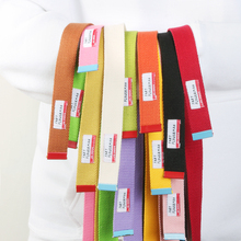 12 Colors Macaron Fashion Unisex Canvas Belt Fabric Webbing Waist Casual D Ring Plain Canvas Belt Waistband