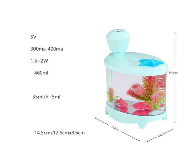 Jiaderui 460ml Baby Room Ultrasonic Cool Mist USB Humidifier with Night Light Whisper-Quiet 8 h Auto ON/OFF for Home Office Desk 5