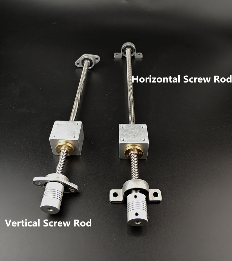 1 conjunto d: 8mm haste de parafuso horizontal ou 1 conjunto haste de parafuso vertical 200mm-500mm kande