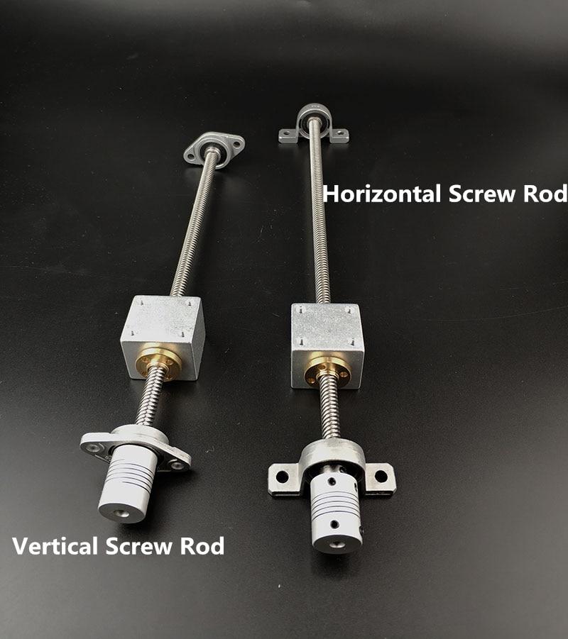1 set d 8mm Horizontale Schraube Stange oder 1 set Vertikale Schraube Stange 200mm-500mm Kande