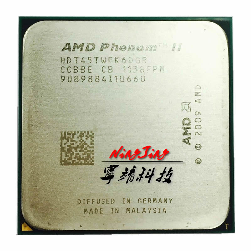 AMD Phenom II X6 1045T 1045 2 7 GHz six core CPU Processor HDT45TWFK6DGR Socket AM3