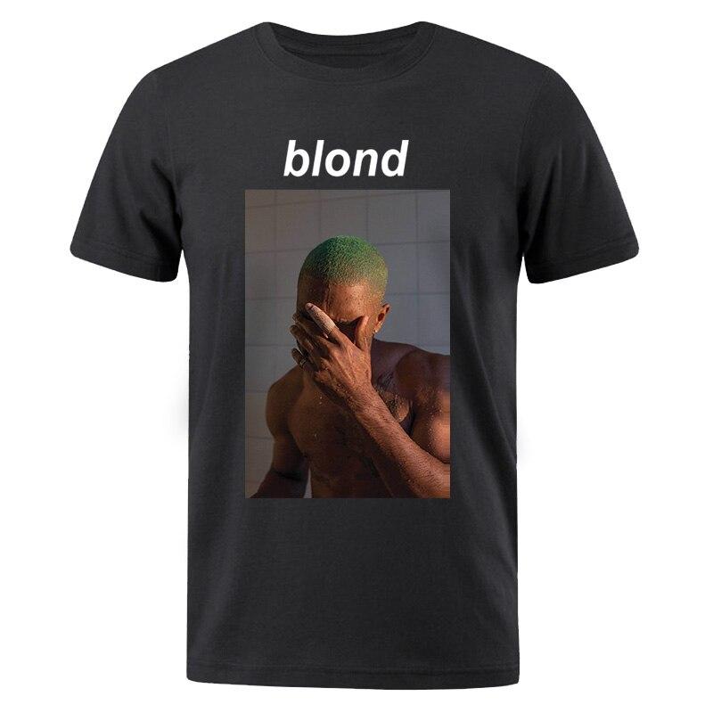 Blond Print Men T Shirt 2019 New Summer Fashion Tshirt Men Casual Cotten Short Sleeve T-Shirt Harajuku Hip Hop Male TShirt