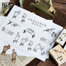 Vintage fingertip series wood stamp DIY craft wooden rubber stamps for scrapbooking stationery scrapbooking standard stamp lychee vintage wood box rubber stamps wooden scrapbooking standard stamp diy craft stamps decoration for handmade gift