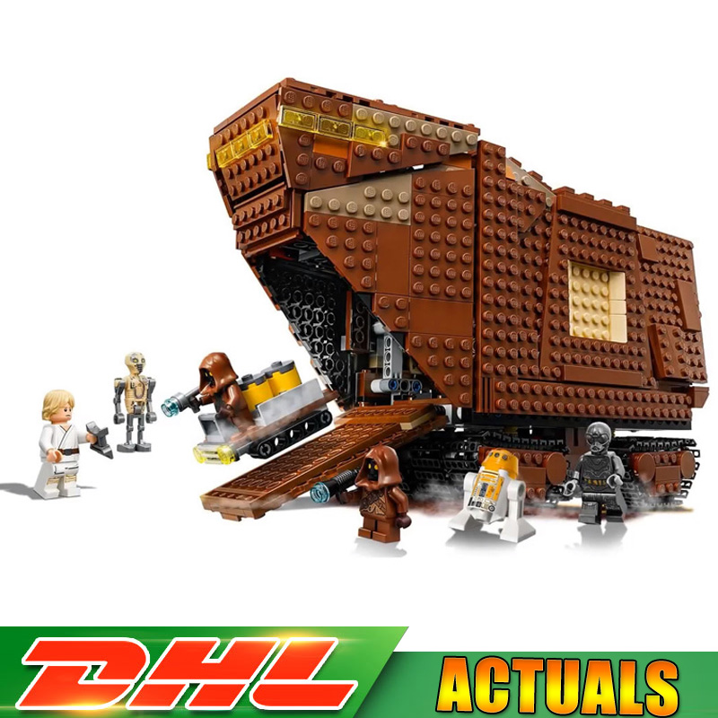 Lepin 05146 Star Wars Sandcrawler Model Building Blocks Bricks Toys for Children Christmas Gifts Compatible LegoINGlys 75220 lepin 05146 starwars the sandcrawler model set star plan wars 75220 building blocks bricks educational children collection toys