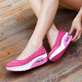 Lona 2016 de Aire Respirable Ocasional Oscilación Señoras Formadores Zapatos de Cuña Para Las Mujeres Femme Chaussure Hommes Niñas Caminando Zapatos Mujer