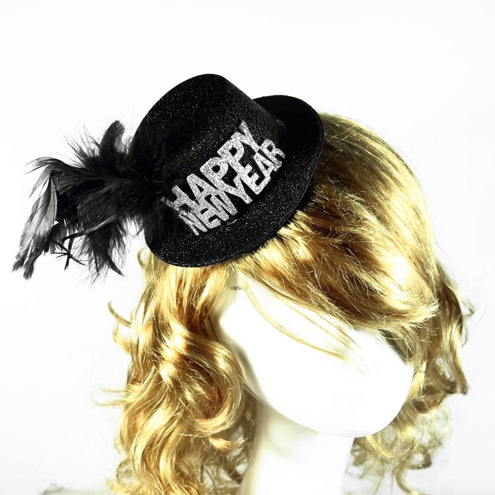 Happy new year irish princess hat Halloween witch hat on headband festive event party supplies fun decoration Christmas gift
