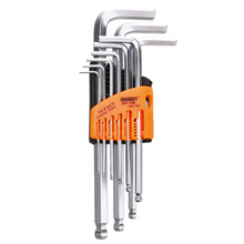9PCS Allen Wrench Set Durable Reinforced Toughen Metric Ball Ended Hex Allen Key Wrench Set Spanner Torque Wrench Kit