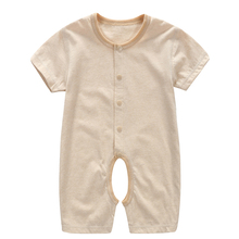 YiErYing Baby Summer Romper Soft 100% Cotton Pure Color Girl Boys Clothes Infant Jumpsuits Sleep & Play