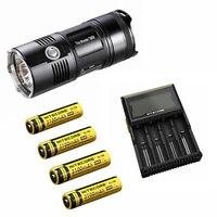 Nitecore TM06 3800 Lumens 4*CREE XM L2 U2 LEDS TINY MONSTER + 4 x NL188 battery(3100mah) + Nitecore d4 charger