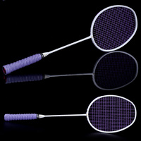 Graphite Single Badminton Racquet Professional Carbon Fiber Badminton Racket with Carrying Bag YS BUY
