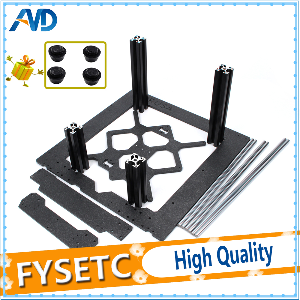 Clone Original Prusa i3 MK3 3D Printer Parts Aluminum Frame Aluminum Black Profile And Smooth Rods Kit
