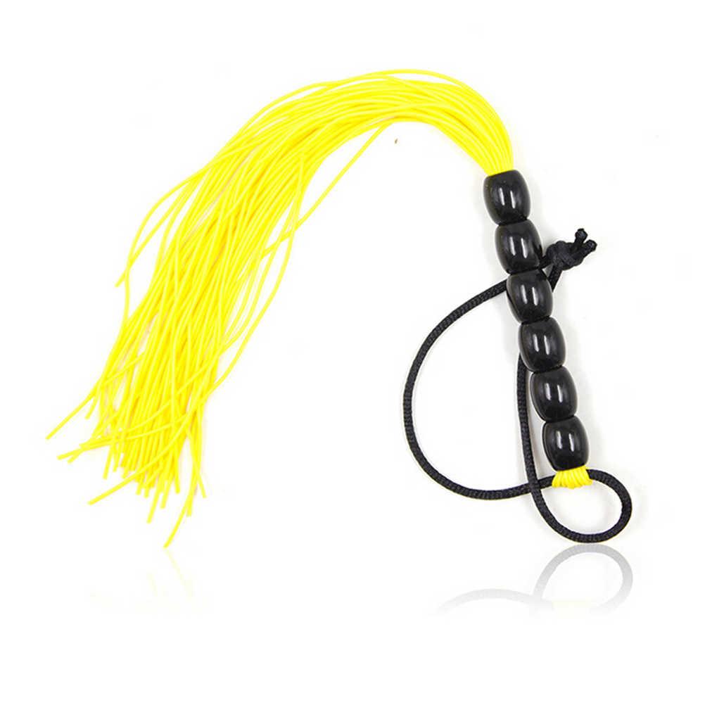 성인 용품 1PCS Black Faux Leather Flogger SM Horse Whip Flogger 라이딩 자르기 도구 Fetish whips bdsm 게임 가죽 하네스