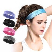 10487854d 5 colores transpirable deportes diadema antideslizante de goma elástica  cinta fútbol Yoga ciclismo correr diadema venda