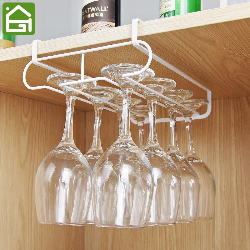 6 Hooks Cup Holder Hang Kitchen Cabinet Under Shelf: Cupboard Hanging Organizer Shelves Kitchen Under Cabinet