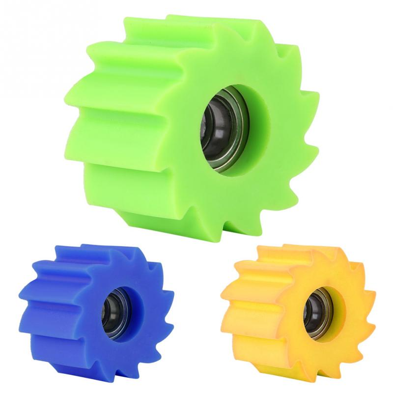 Green, 8mm 8mm//10mm Motorcycle Chain Roller Tensioner Pulley Wheel Guide for Kawasaki KX250F KX450F Bike
