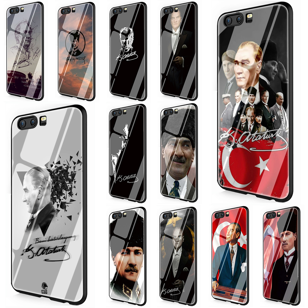 Mustafa Kemal Ataturk Tempered Glass Phone Cover Case For Huawei Y9 2019 Honor 8X 7A pro P10 20 Lite Pro Mate 20 Lite Pro