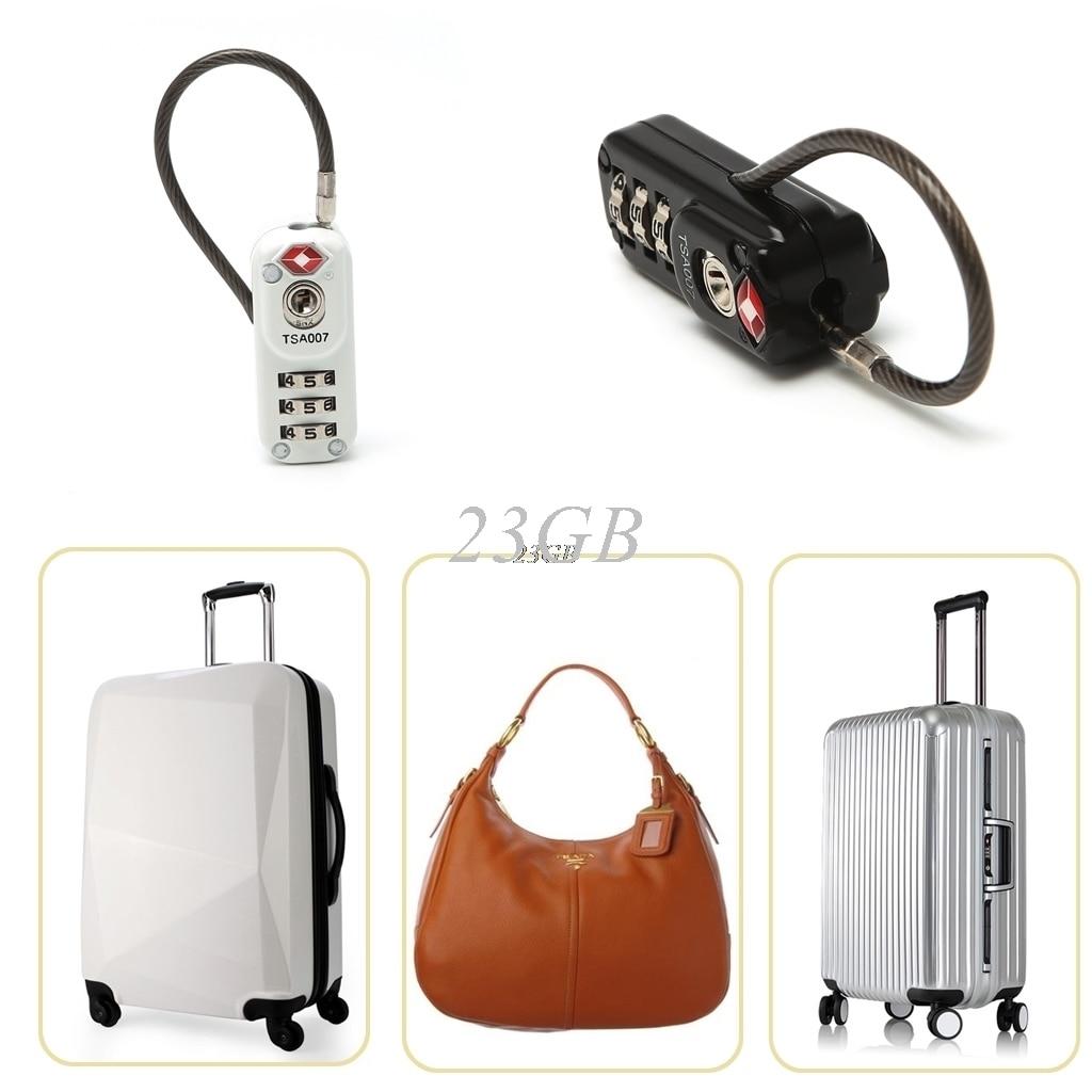 TSA 3 Digit Combination Resettable Travel Suitcase Luggage Code Lock Padlock J24 цена