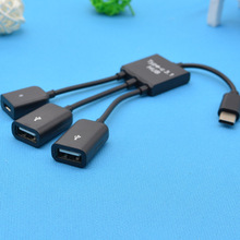 Adapter Type-C 3.1 to usb line HUB cable 1 3 for huawei/xiaomi/sumsung/tablet OTG moblie gaming mouse keyboard