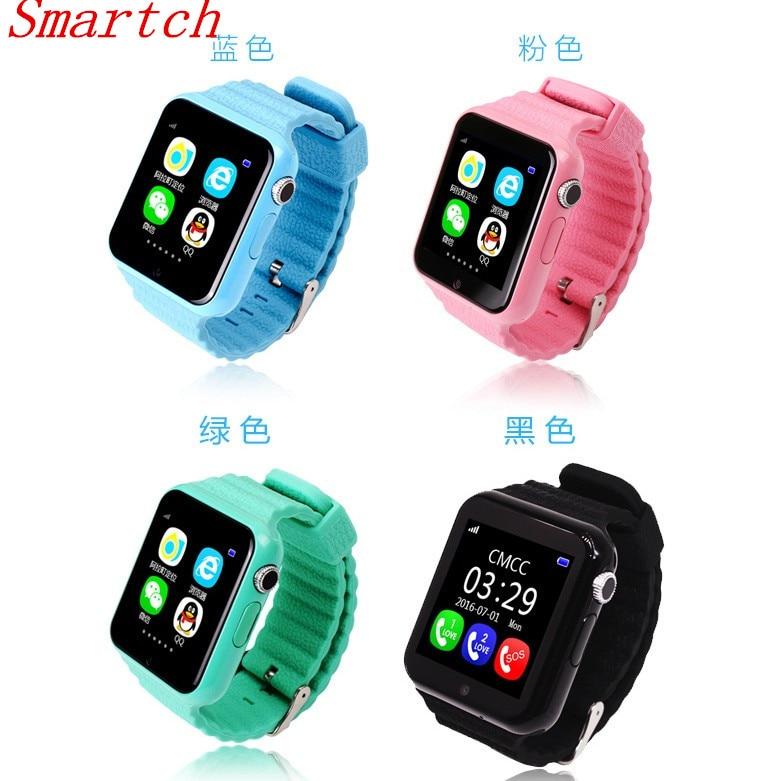 Smartch V7K étanche enfants GPS montre intelligente enfants sûr Anti-perte moniteur Smartwatch avec caméra facebook whatsapp SOS PK Q50