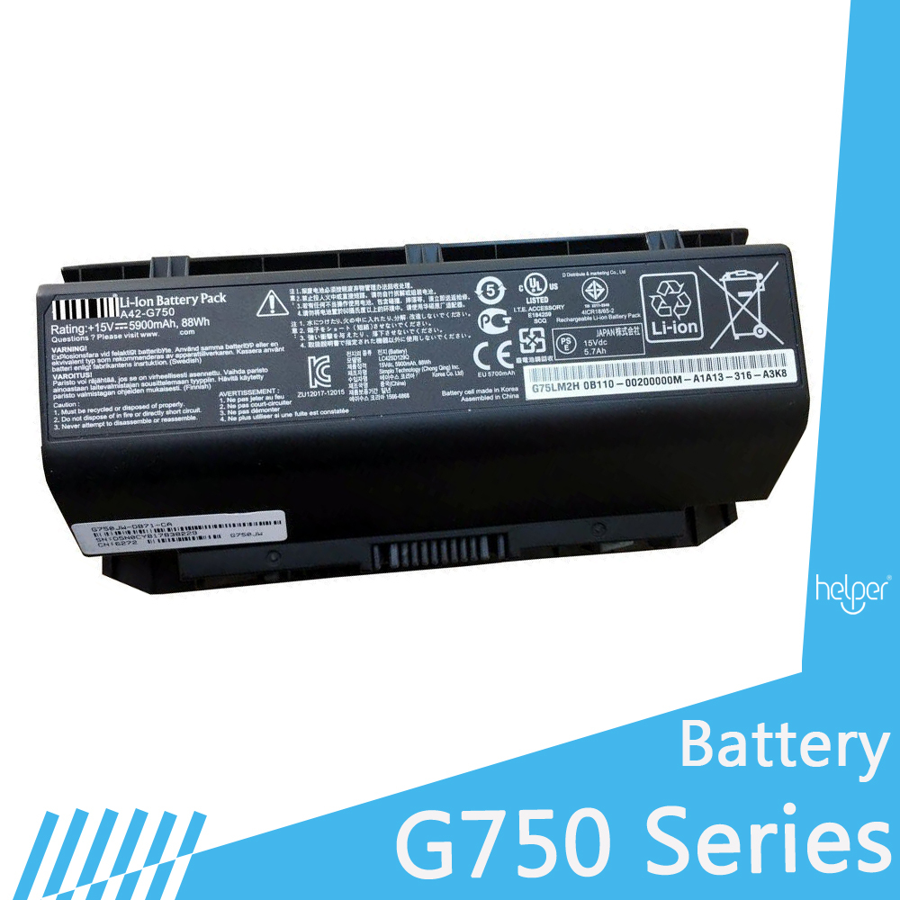 Replacement for G750JW G750 G750Y47JX A42-G750 G750Y47JX-BL G750J G750JW Laptop Battery Free Shipping недорго, оригинальная цена
