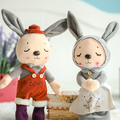 2018 Latest Funny Rabbit Animals Plush Toys Fashionable Soft Children Emulate Best Kids Gifts