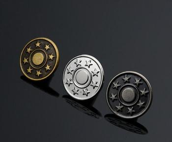 1000 pcs no rust brass made jeans shank button 17mm or 20mm antique cooper silver gun metal
