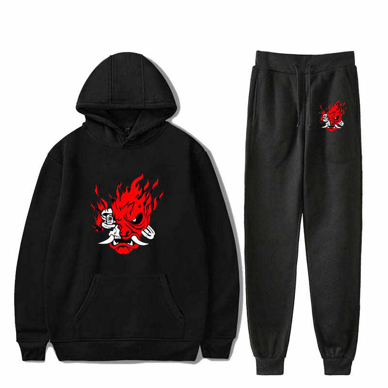 2019 2077 Suit men/women Hooded Hoodie Pencil pants Two-piece set Couple sportswear Brand casual outfit