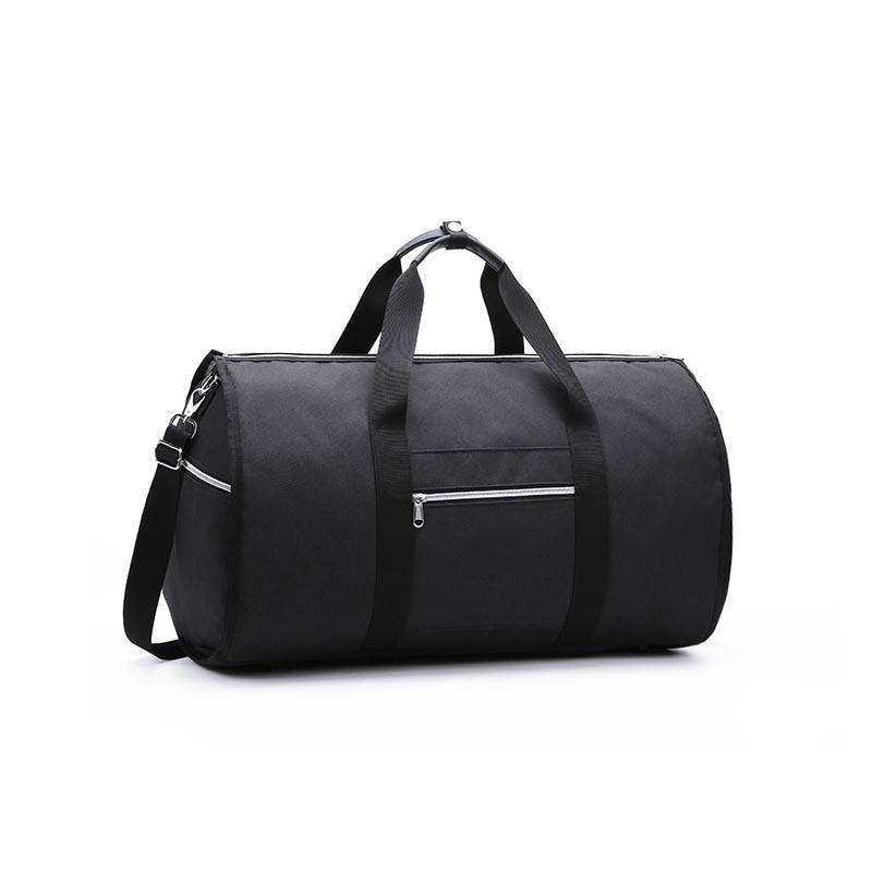 Дропшиппинг водонепроницаемый дорожный костюм вещевой мешок дорожная сумка багажные сумки бизнес большая портативная дорожная сумка для хранения - Цвет: Черный