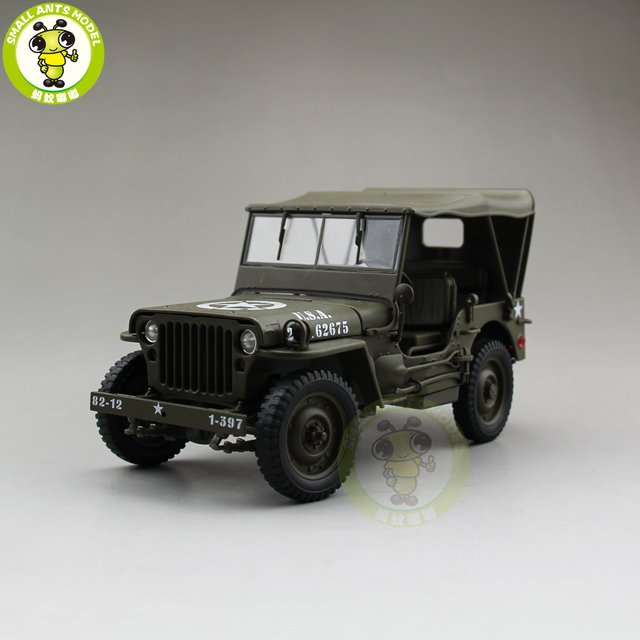 1 18 1941 Jeep Willys Mb Us Army Diecast Car Model Toys Welly Army