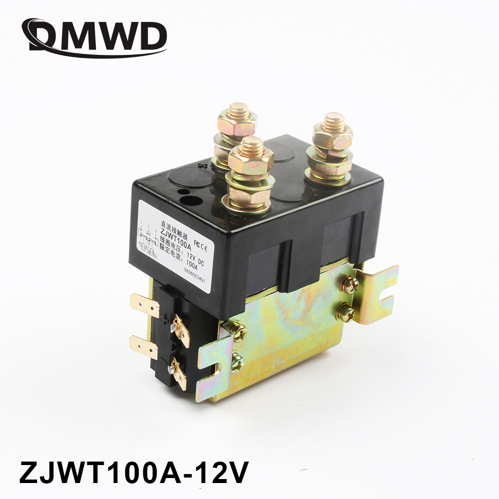 DC88 2NO+2NC 12V 24V 36V 48V 60V 72V 100A DC Contactor ZJWT100A for motor forklift handling drawing grab wehicle car winch sw88 2no 2nc 12v 24v 36v 48v 60v 72v 100a dc contactor zjw100aht for forklift handling drawing wehicle car pump motor