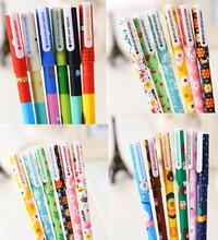 1 pcs/ lot Novelty Sweet Colorful series gel pens 0.38mm zakka material Office school supply Stationery Gift