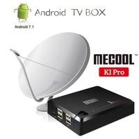 MECOOL KI 3in1 Satellite Receiver Decoder DVB S2 T2/C+ Android 7.1 TV Box Smart TV 4K Set Top Box 2GB RAM 16GB ROM Amlogic S905D