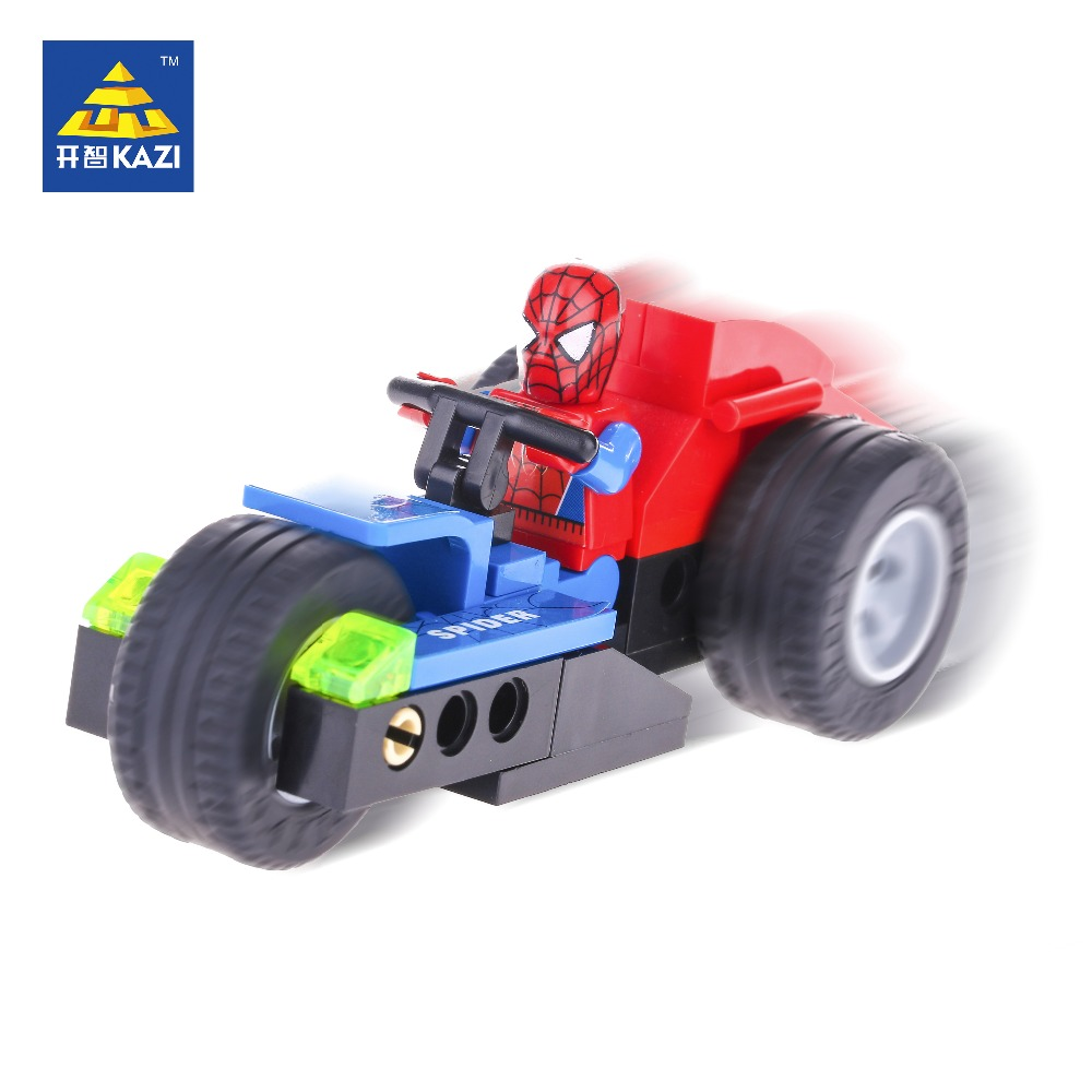 KAZI Gift For Kids Building Blocks Spider Superman Toys Building Blocks Kids Super Heroes Fighter Building Blocks Spiderman