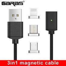 GARAS USB Type C/Micro USB câble magnétique USB C/type c chargeur rapide câble magnétique câble de téléphone portable