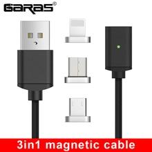 Garas usb tipo c/micro usb cabo magnético USB C/tipo c carregador rápido ímã cabo do telefone móvel