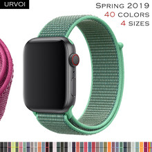 URVOI Sport loop for apple watch series 4321 band for iwatch strap double-layer breathabe hook fastener woven nylon 2019 Spring(China)
