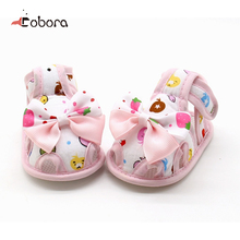 2017 High Quality Summer Baby Cute Bow Shoes Size Kids Baby Girls Sandals Shoes Skid Proof Toddlers