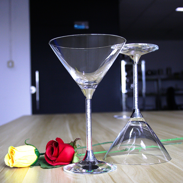 274ml 9 6oz Customed 2 Pieces Lot Lead Free Crystal Wedding Cocktail Wine Glasses
