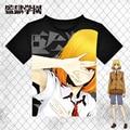 Anime Prison School Medusa Midorikawa Hana T-shirt Black Polyester T Shirt Summer Active Tshirt Fashion Men Women Clothing