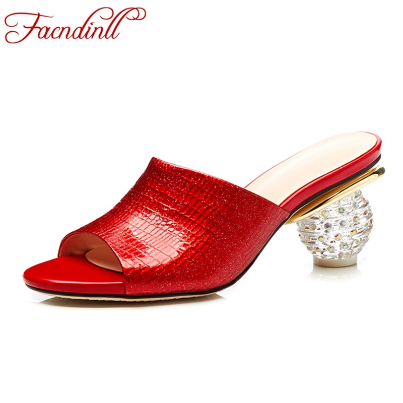 FACNDINLL new fashion high quality genuine leather sandals sexy high heels open toe shoes woman dress party wedding summer shoes printio блокнот