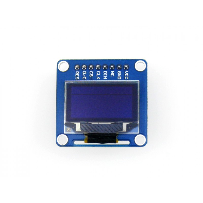Waveshare 10pcs/lot 0.96inch OLED (B) 128*64 Small Size Display Module SPI / I2C Interfaces Straight/Vertical Pinheader