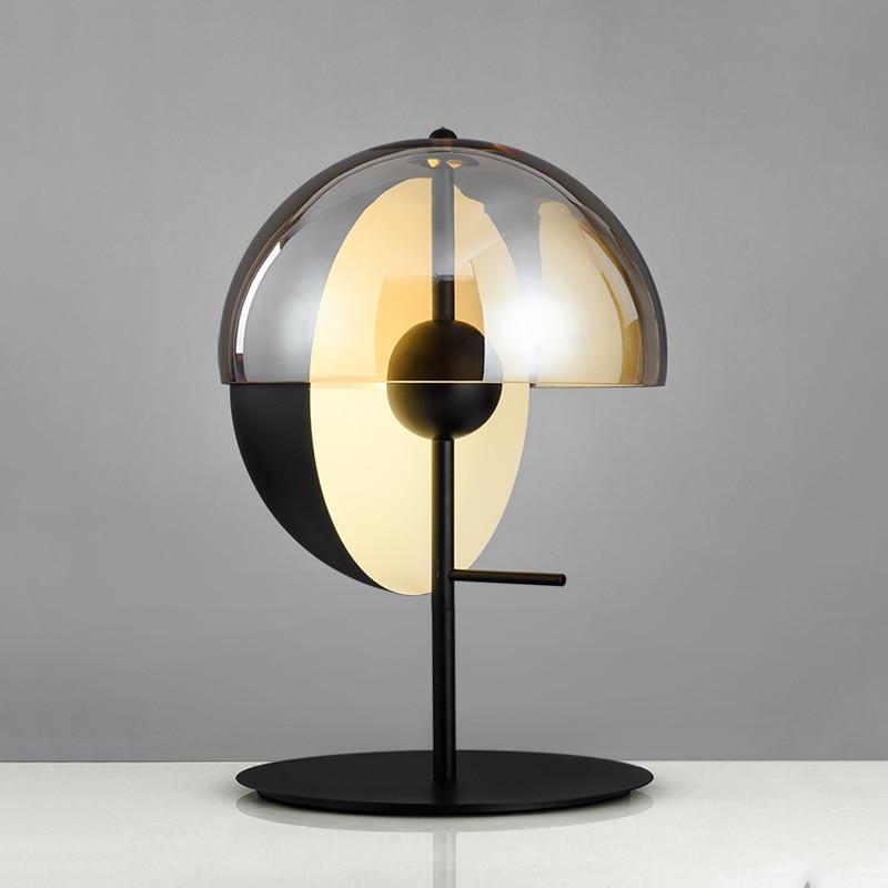 LukLoy прикроватные светодиодные настольные лампы скандинавские постсовременные стеклянные настольные лампы для спальни гостиной офиса минималистичные ночники