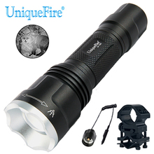 UniqueFire 1507 IR 850nm Infrared Light Flashlight Adjustable LED Torch with Pressure Switch and Scope Mount for Outdoor Hunting