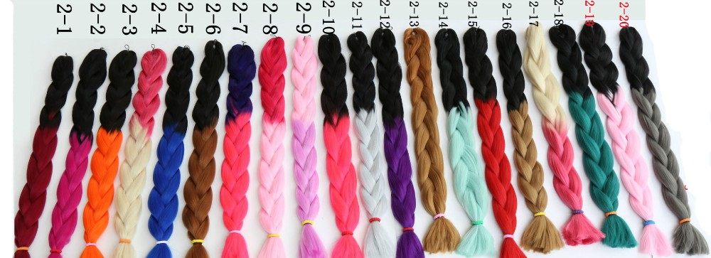5pcs 20colors Ombre Kanekalon Jumbo Braiding Hair Colors 100g 48inch Synthetic Extension African Styles On Aliexpress Alibaba Group