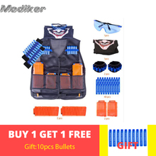 Bandolier + 6 Bullets Cartridge Dart + Clip + Goggles +Scarf Mask +  Wristband Dart Strap for Nerf N-strike Elite Series For CS